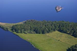 Ribbingsholms naturreservat - flygbild